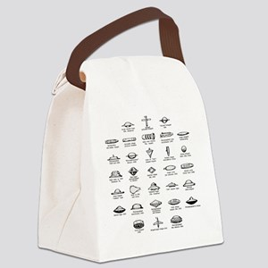 UFO Chart Canvas Lunch Bag