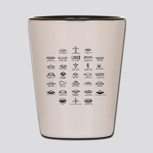 UFO Chart Shot Glass
