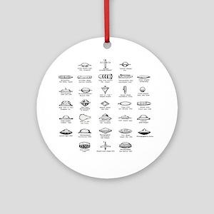 UFO Chart Round Ornament
