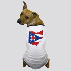 Ohio State Flag and Map Dog T-Shirt