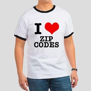 I Heart (Love) Zip Codes Ringer T