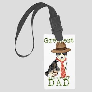 husky dad Large Luggage Tag