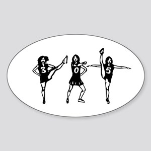 305 Cheerleader Style Oval Sticker