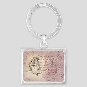 Jane Austen Quote Landscape Keychain