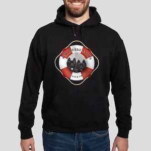 Schipperke Nation life preserver Hoodie (dark)