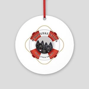 Schipperke Nation life preserver Round Ornament