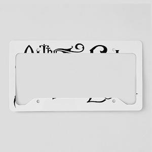 The Absent Light Logo License Plate Holder