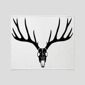 hirsch deer stag night skull schädel Throw Blanket