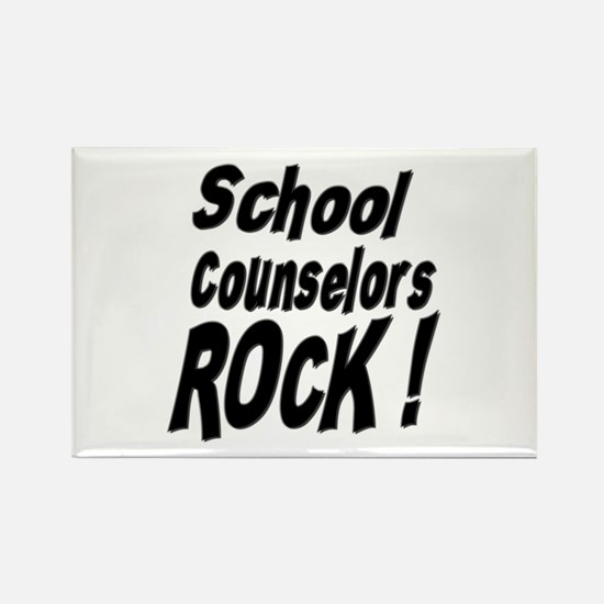 School Counselors Rock ! Rectangle Magnet