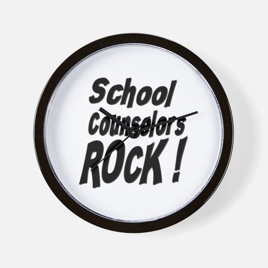 School Counselors Rock ! Wall Clock