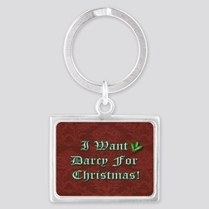 Darcy for Christmas Landscape Keychain