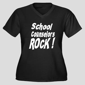 School Counselors Rock ! Women's Plus Size V-Neck