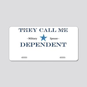 MIlitary Expressions (TCMD) Aluminum License Plate