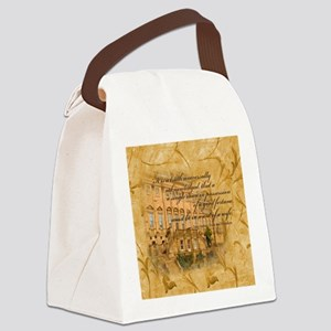 Jane Austen Quote Canvas Lunch Bag