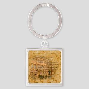 Jane Austen Quote Square Keychain