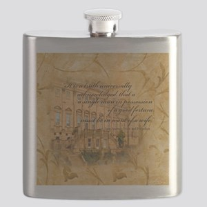 Jane Austen Quote Flask