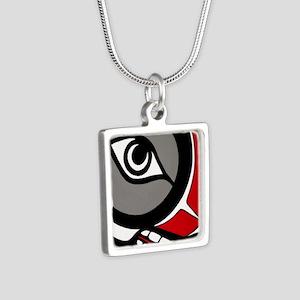 Kushtaka (Bigfoot) Silver Square Necklace