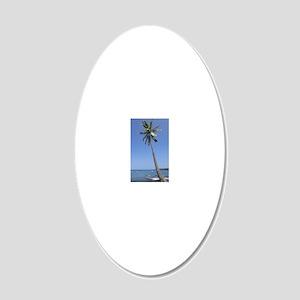 Single Palm 20x12 Oval Wall Decal