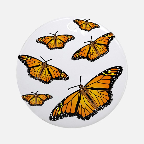 Monarch Butterflies Round Ornament