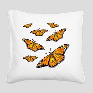 Monarch Butterflies Square Canvas Pillow