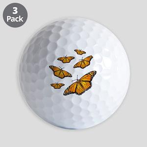 Monarch Butterflies Golf Balls