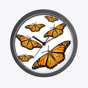 Monarch Butterflies Wall Clock
