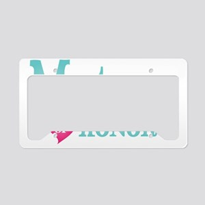 Matron of Honor Turquoise Pin License Plate Holder