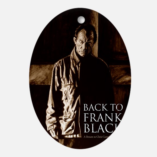 Back To Frank Black Book Cover Oval Ornament
