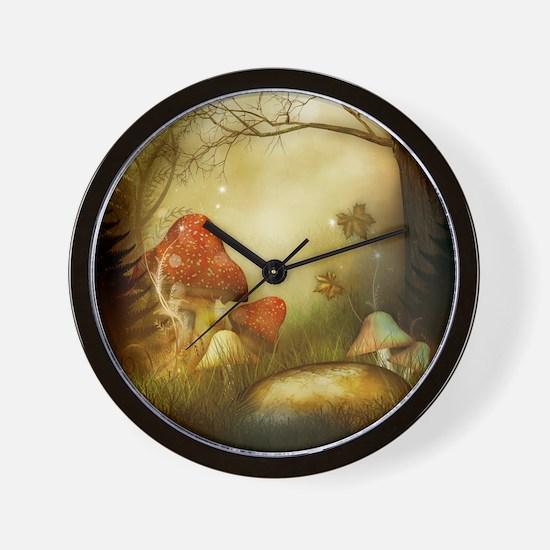 Fairy Woodlands 4 Wall Clock