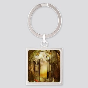 Fairy Woodlands 8 Square Keychain