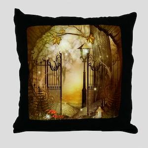 Fairy Woodlands 8 Throw Pillow