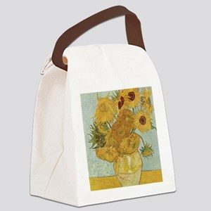 Van gogh Sunflowers Canvas Lunch Bag