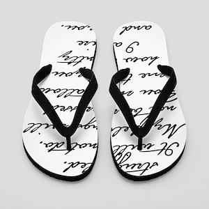 7 Jane Austen Prop... Flip Flops