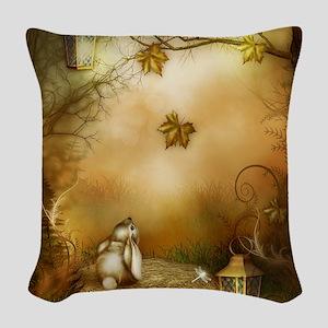 Fairy Woodlands 1 Woven Throw Pillow