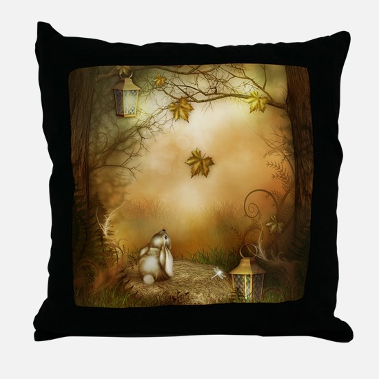 Fairy Woodlands 1 Throw Pillow