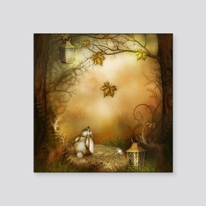 "Fairy Woodlands 1 Square Sticker 3"" x 3"""