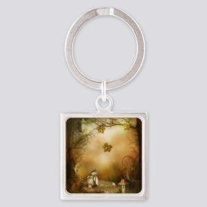 Fairy Woodlands 1 Square Keychain