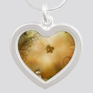 Fairy Woodlands 1 Silver Heart Necklace