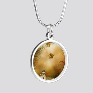 Fairy Woodlands 1 Silver Round Necklace