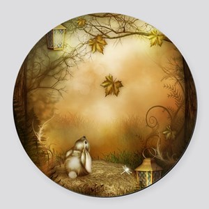 Fairy Woodlands 1 Round Car Magnet