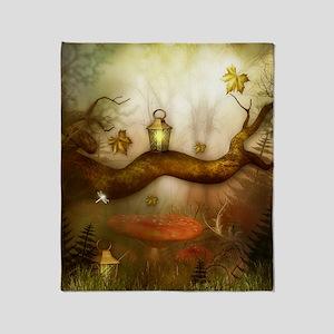 Fairy Woodlands 3 Throw Blanket