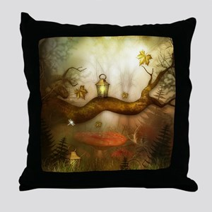 Fairy Woodlands 3 Throw Pillow