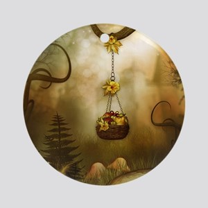 Fairy Woodlands 6 Round Ornament
