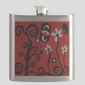 Red Retro Flask