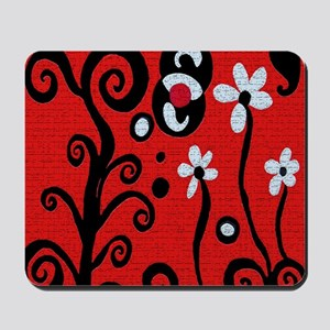 Red Retro Mousepad