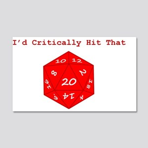 I'd Critically Hit That - Red 20x12 Wall Decal