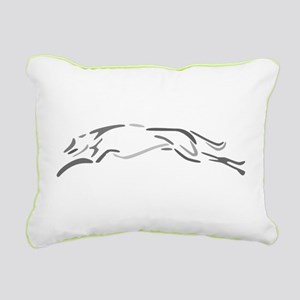 Shades Of Grey Greyhound Rectangular Canvas Pillow