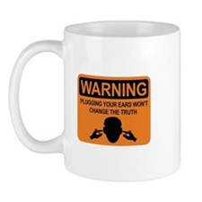 warning: plugging ears Mug