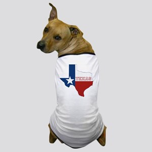 Texas State Flag and Map Dog T-Shirt