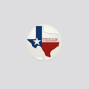 Texas State Flag and Map Mini Button